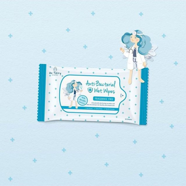 Au Fairy Anti Bacterial Wet Wipes (Contains NEA Ingredients)
